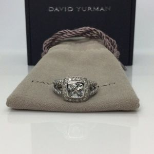 David Yurman Petite Albion White Topaz Ring